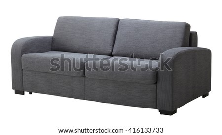 Grey sofa isolated on white include clipping path #416133733