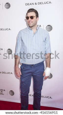 New York, NY, USA - April 18, 2016:Actor Zachary Quinto attends the Tribeca Tune In: 'For The Love Of Spock' during the 2016 Tribeca Film Festival at the SVA Theatre, Manhattan #416156911