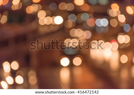 """"""" Abstract Lights and Blur """" look at traffic on road at night, Bangkok,Thailand #416472142"""