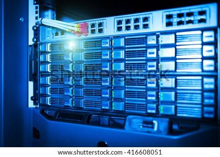 Storage servers in data room Domestic Room . #416608051