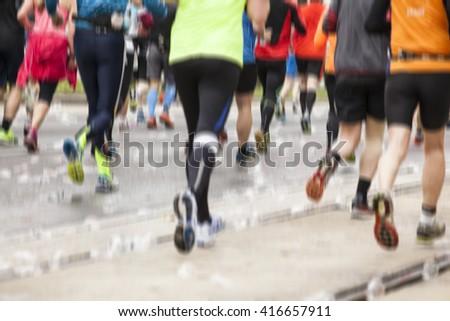 marathon runners ,sport background #416657911