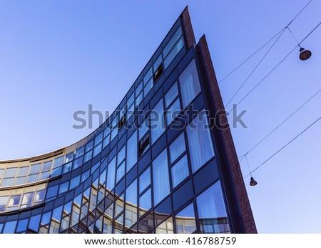 Facade of a building with windows #416788759