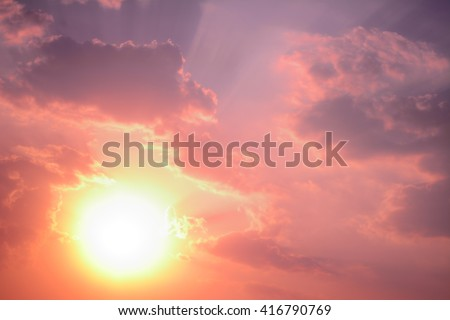 anime sunset and sunrise pastel sky background #416790769