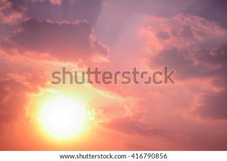 anime sunset and sunrise pastel sky background #416790856