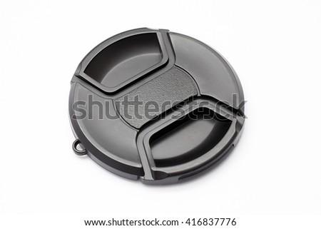 Black camera lens cap #416837776