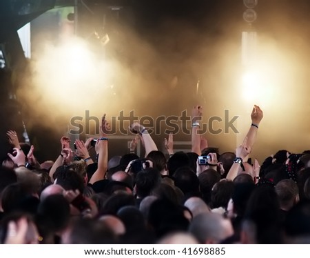 cheering crowd at concert #41698885