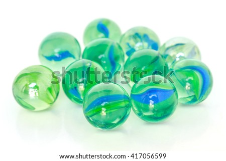 glass ball sphere decoration on white background #417056599