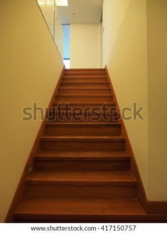 wooden staircase #417150757