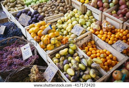 natural fruit in market #417172420