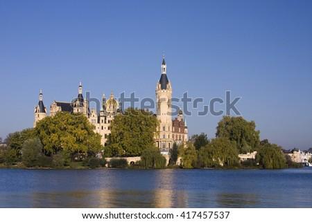 Schwerin Castle, Schwerin, Mecklenburg-Western Pomerania, Germany, Europe   Royalty-Free Stock Photo #417457537
