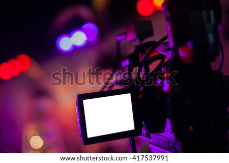 Covering an event with a video camera #417537991