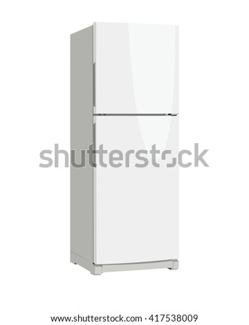 refrigerator vector illustration #417538009