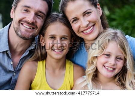 Portrait of happy family smiling #417775714