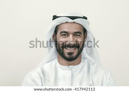 Handsome Confident Arab businessman smiling, Arabian Businessman   #417942112