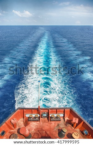 Motor Vessel Sailing in the Ocean #417999595