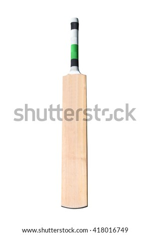 A wooden cricket bat isolated on white #418016749