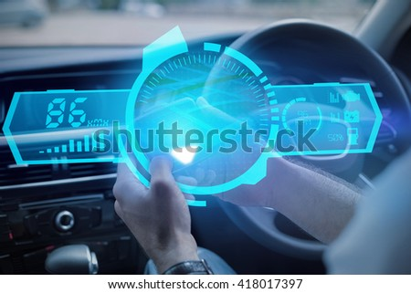 A watch against man using satellite navigation system #418017397