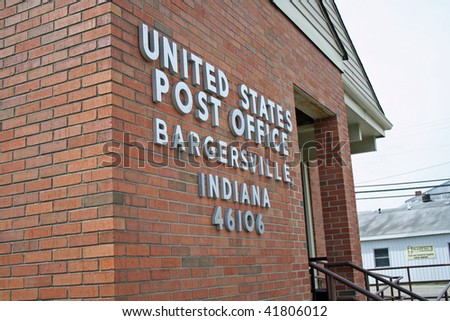 Post office in downtown Bargersville, IN #41806012