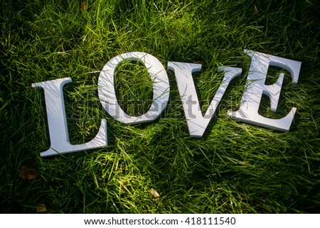 Love letters on summer grass #418111540