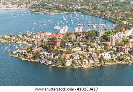 Lavender Bay aerial view, Sydney. Royalty-Free Stock Photo #418250419