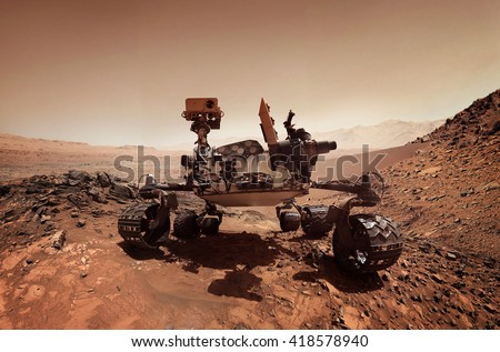 Mars rover. Elements of this image furnished by NASA