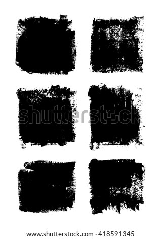 Grunge frames set vector  #418591345