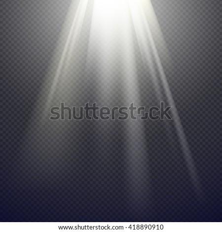 Vector Light Effect Spotlight Royalty-Free Stock Photo #418890910