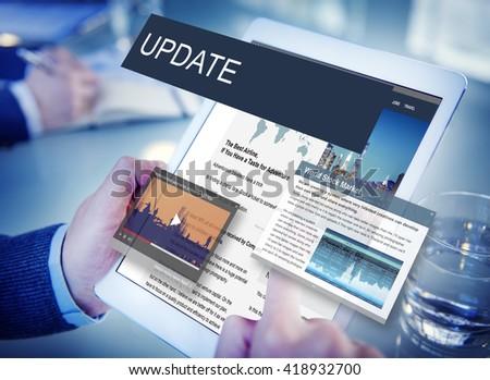 Update Trends Report News Flash Concept #418932700