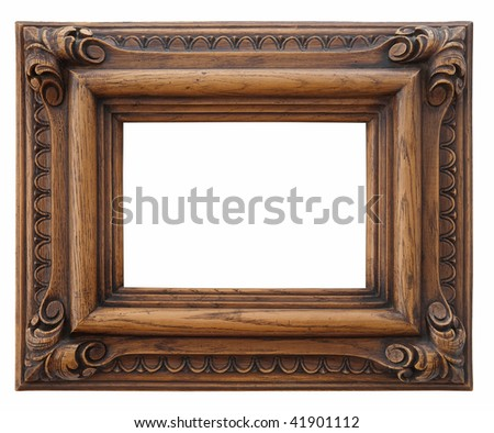 Wooden photo frame isolated #41901112