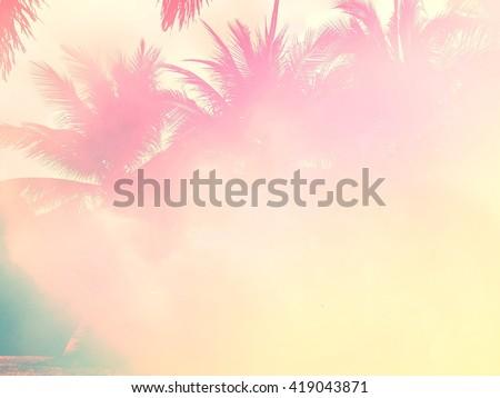 Palm tree pastel tone