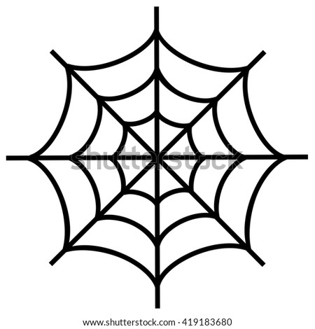 Spiderweb icon isolated on white background.