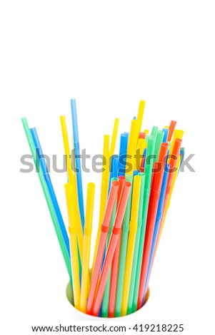 glass of drinking straw #419218225