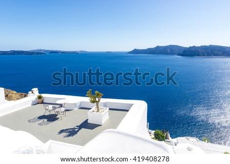 View in Oia, Santorini, Greece #419408278