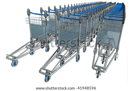 3d render of Luggage Trolley on the plain background #41948596