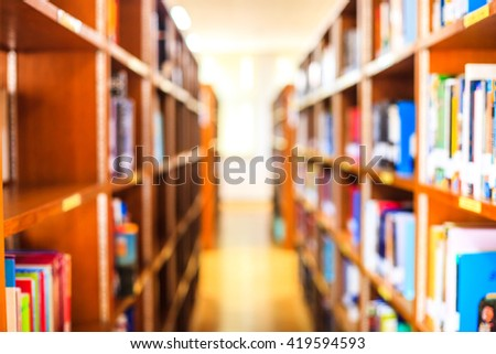 Blur image of picture library background