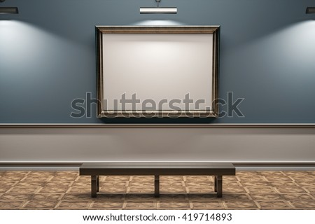 gallery frame mockup Royalty-Free Stock Photo #419714893