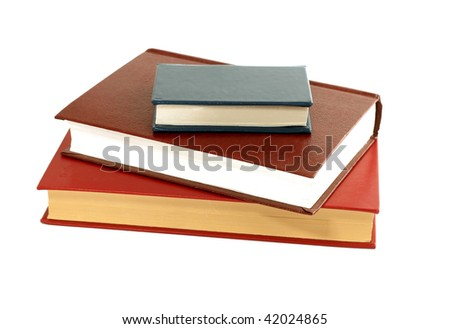 books isolated on white background #42024865