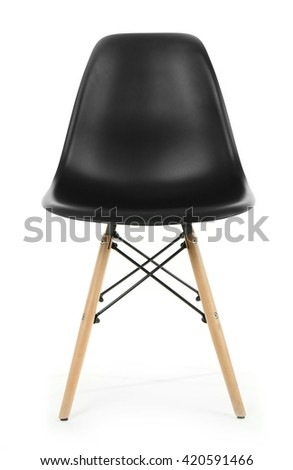 Modern chair isolated on white #420591466