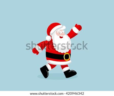 Santa Claus running #420946342