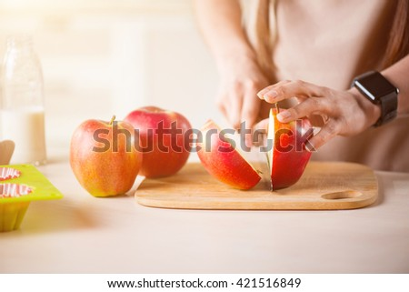 Nice woman cooking in the kitchen  #421516849
