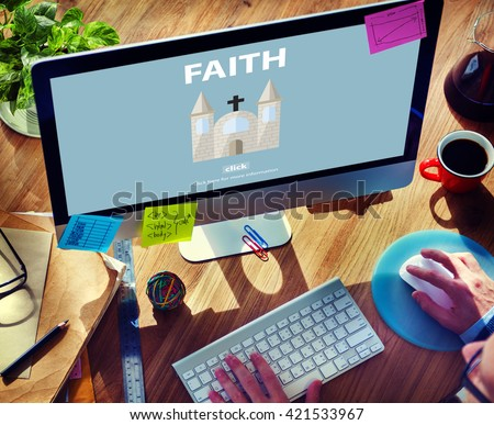 Faith Ideas Imagine Inspiration Mindset Trust Concept #421533967