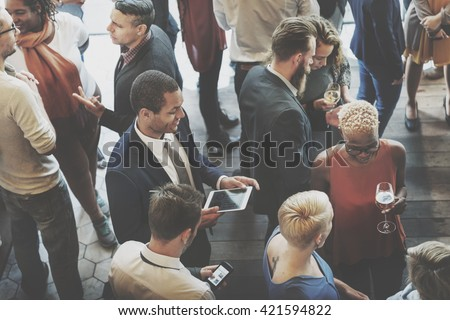 Colleagues Buffet Party Brunch Dinning Concept Royalty-Free Stock Photo #421594822