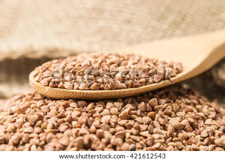 Buckwheat groats and household articles #421612543