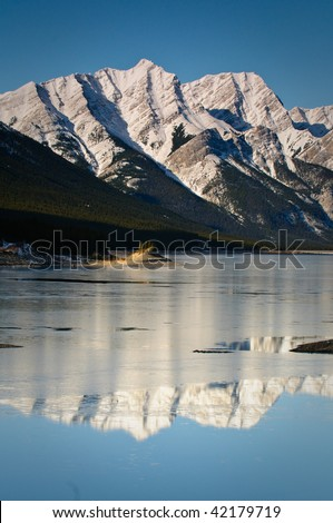 Mountain scenes in the Banff and Spray Lakes area Alberta, #42179719