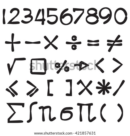 maths sign vector set, number #421857631