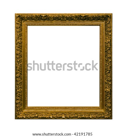 Antique picture frame with clipping path #42191785