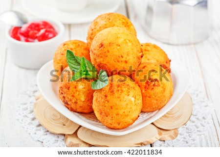 Cottage cheese donuts. #422011834