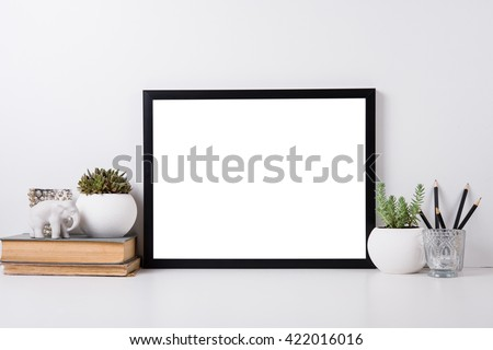 Modern home decor mock-up