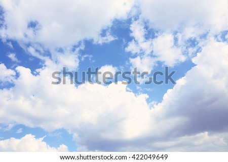 Blue sky background with white clouds. Clouds with blue sky. Clouds background. Sky print. Clouds print #422049649