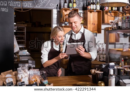 New business owners using tablet #422291344